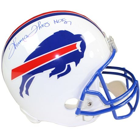 "Thurman Thomas Signed Buffalo Bills White Replica Helmet w/ ""HOF"" Insc."