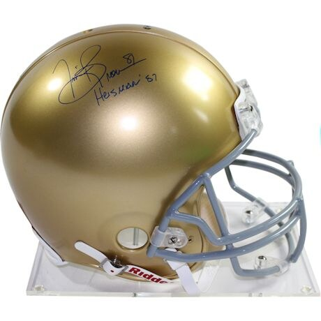 "Tim Brown Signed Notre Dame Full Size Authentic Proline Helmet w/ ""Heisman 87"" Insc"