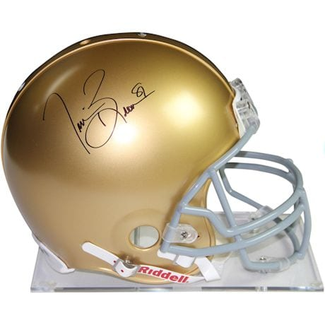 Tim Brown Signed Notre Dame Full Size Replica Helmet