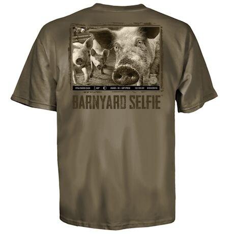 Barnyard Selfie Pig Tee