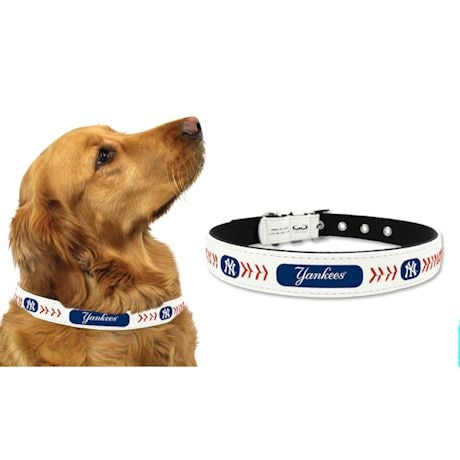 MLB Leather Baseball Pet Collar