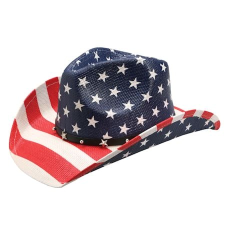 USA Flag Cowboy Hat