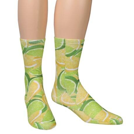 Fruit Crew Socks - Lemon/Limes