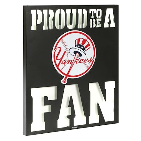 MLB Metal Led Wall Plaque