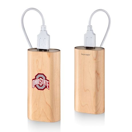 Wood Grain Power Banks - NCAA