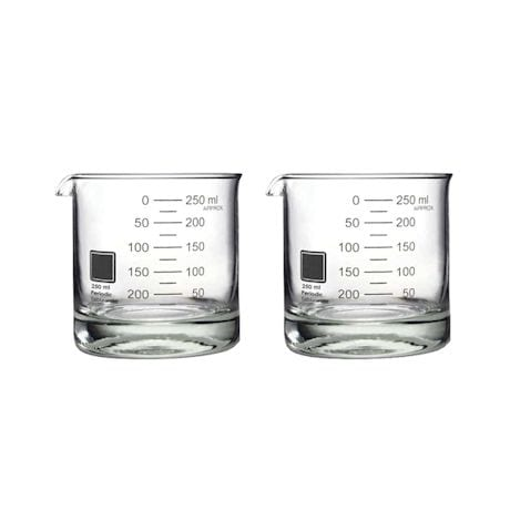 Periodic Glassware Beaker Collection - Rocks Glasses Set Of 2