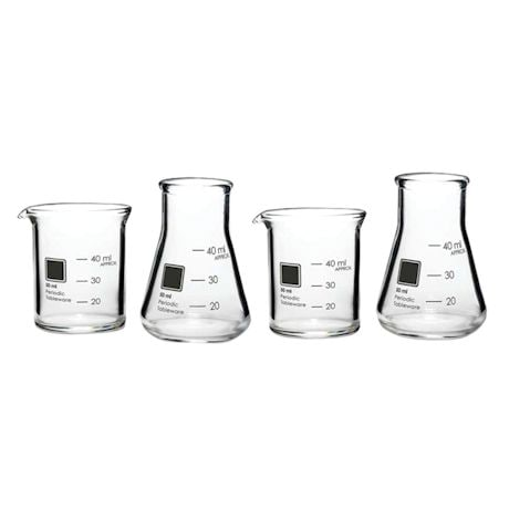 Periodic Glassware Beaker Collection - Shot Glasses