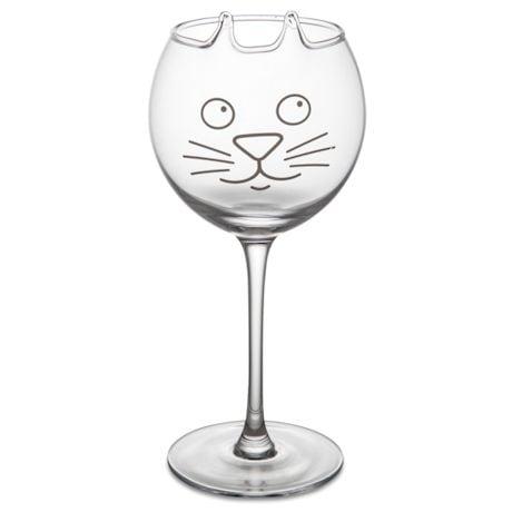 Pet Wine Glasses - Cat