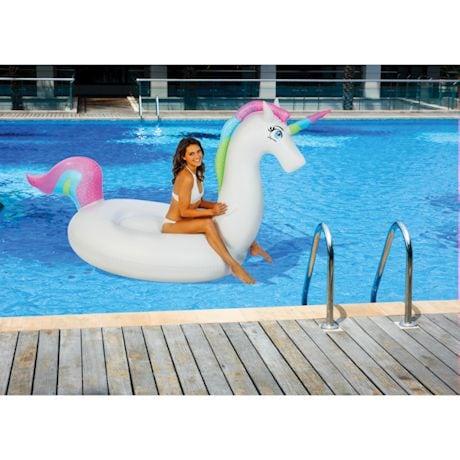 Giant Rainbow Unicorn Pool Float