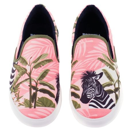 Printed Slip On Sneakers - Zebra