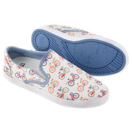 Printed Slip On Sneakers - Bikes