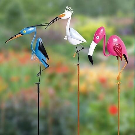 Party Birds Garden Stakes - Set of 3