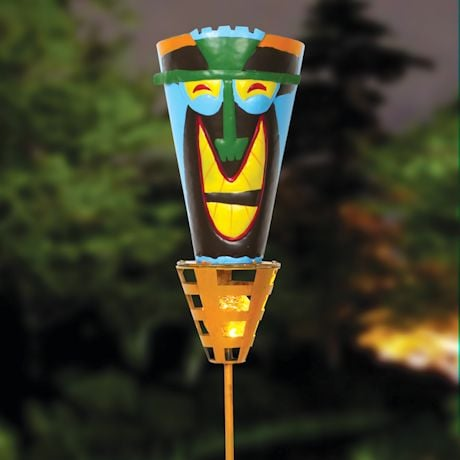 Solar Tiki Torches - Big Happy Smile