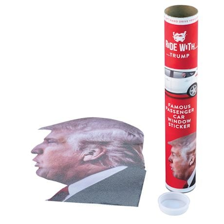 Ride With Trump Car Decal