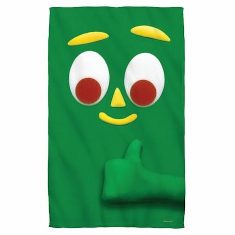 Gumby Face Beach Towel