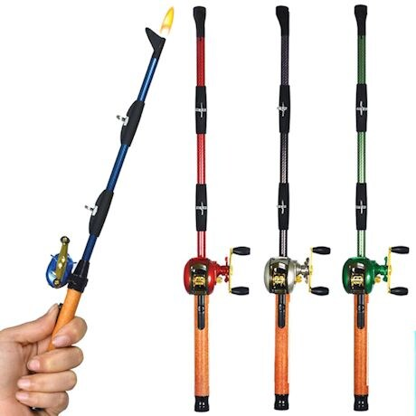Fishing Rod BBQ Lighters - Baitcast Rod