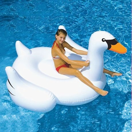 Giant White Swan Float