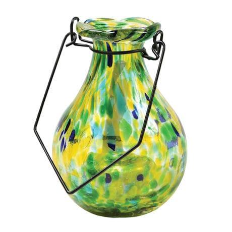 Solar Glass Vase - Spring Green