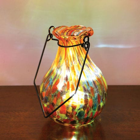 Solar Glass Vase - Multi Yellow