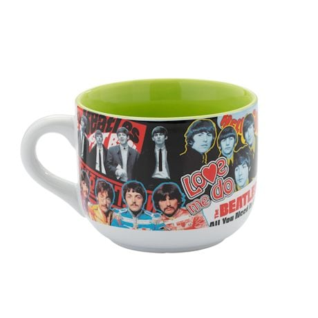 The Beatles Collage Soup Mug