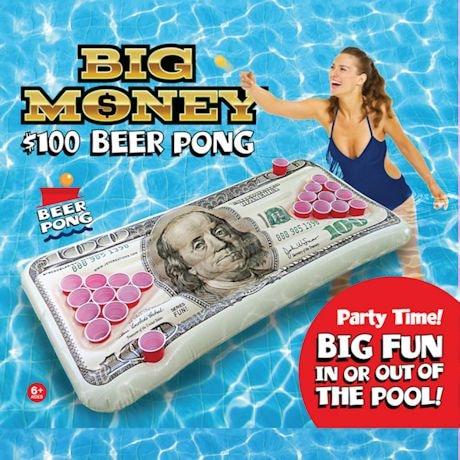 $100 Bill Beer Pong Pool Float