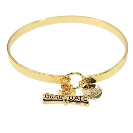 Live Your Dream Graduate Charm Bracelet