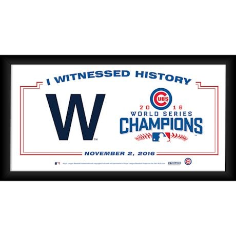 Chicago Cubs 2016 World Series Champions Framed Wall Art