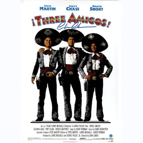 Chevy Chase Signed Three Amigos 11x17 Movie Poster