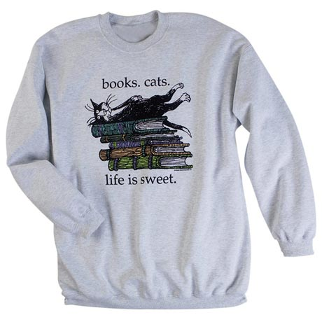 Edward Gorey Life Is Sweet Sweatshirt
