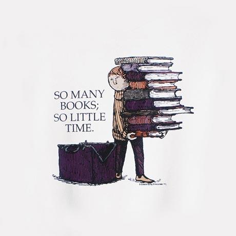 Edward Gorey So Many Books Sweatshirt