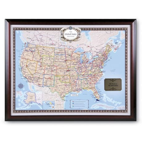 Framed Personalized USA Traveler Map