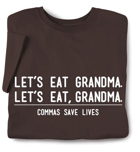Commas Save Lives Shirt