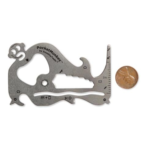 Pocket Monkey Utility Tool - Wallet-Sized Multitool by Zootility