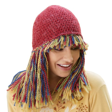 Fringe Knit Hat