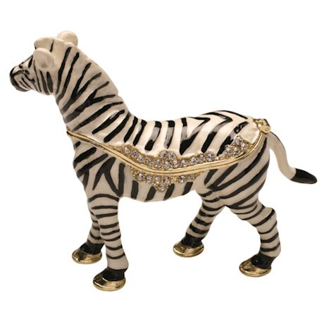 Serengeti Hinged Zebra Box