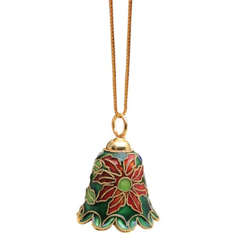 Cloisonné Bell Ornaments Set of 4