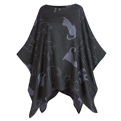 Cat Shadows Poncho