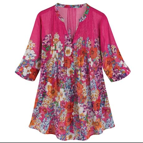 Hot Pink Splendor Tunic Top