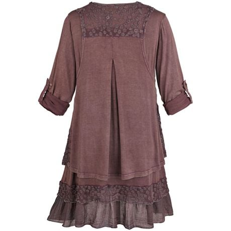 Heavenly Lace 2-Pc. Tunic Set