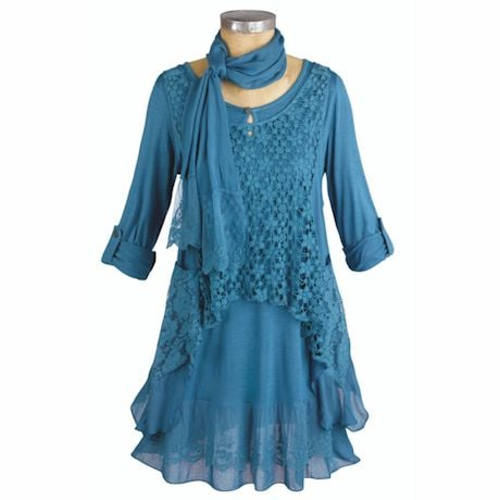 Clouds Of Lace 3-Pc. Tunic Set