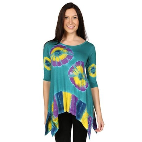 Knit Tie Dye Summer Tunic Top