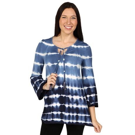 Boho Tassel Tie Dye Summer Tunic Top