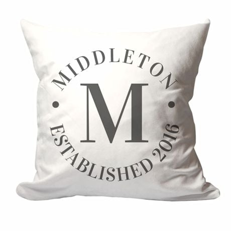 Personalized Family Name And Year Pillow