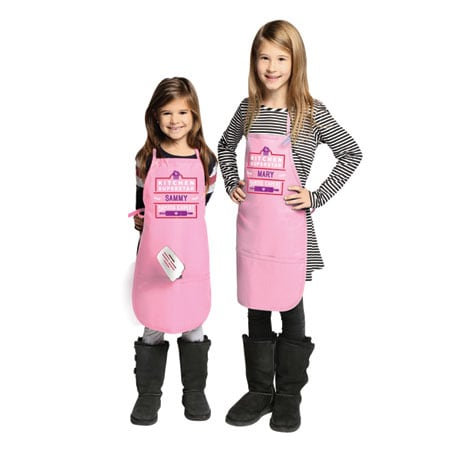 "Personalized Children's Pink ""Kitchen Superstar"" Apron"