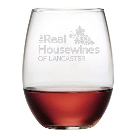 "Personalized ""Real Housewines"" Stemless Wine Glasses - Set of 4"
