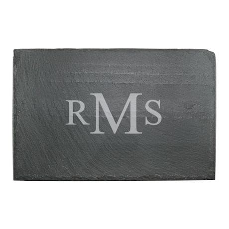 Personalized Monogram Slate Cheese Board