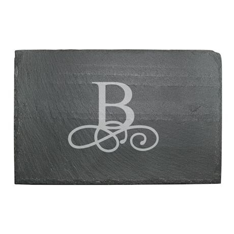 Personalized Initial Slate Cheese Board