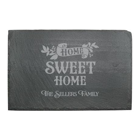 "Personalized ""Home Sweet Home"" Slate Cheese Board"