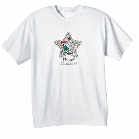 Children's Color Your Own Holiday Star T-Shirt
