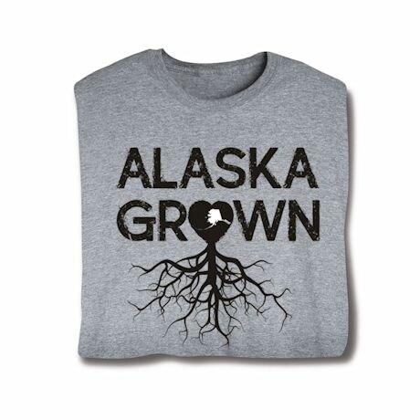 """Homegrown"" T-Shirt - Choose Your State - Alaska"